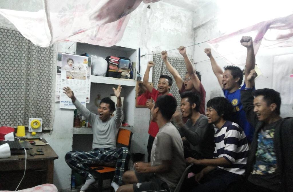 Celebration in hostel life