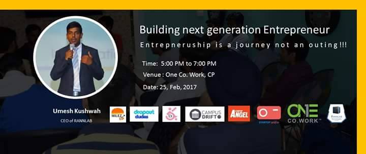 Next Generation Entrepreneur- Initiative by Startup Selfie 3 – Startup Selfie