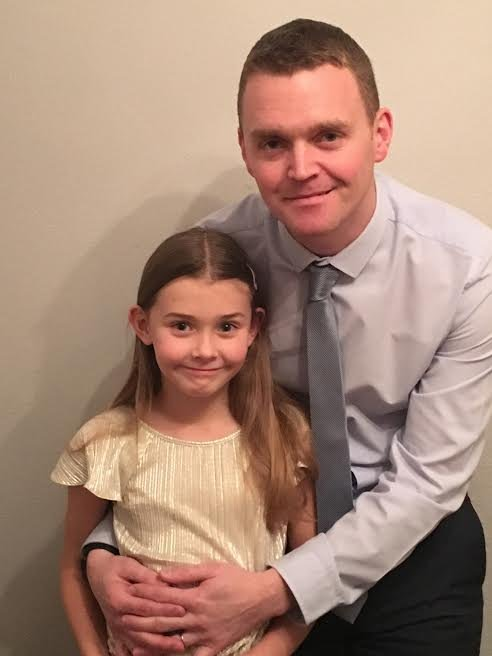 Chloe with her father