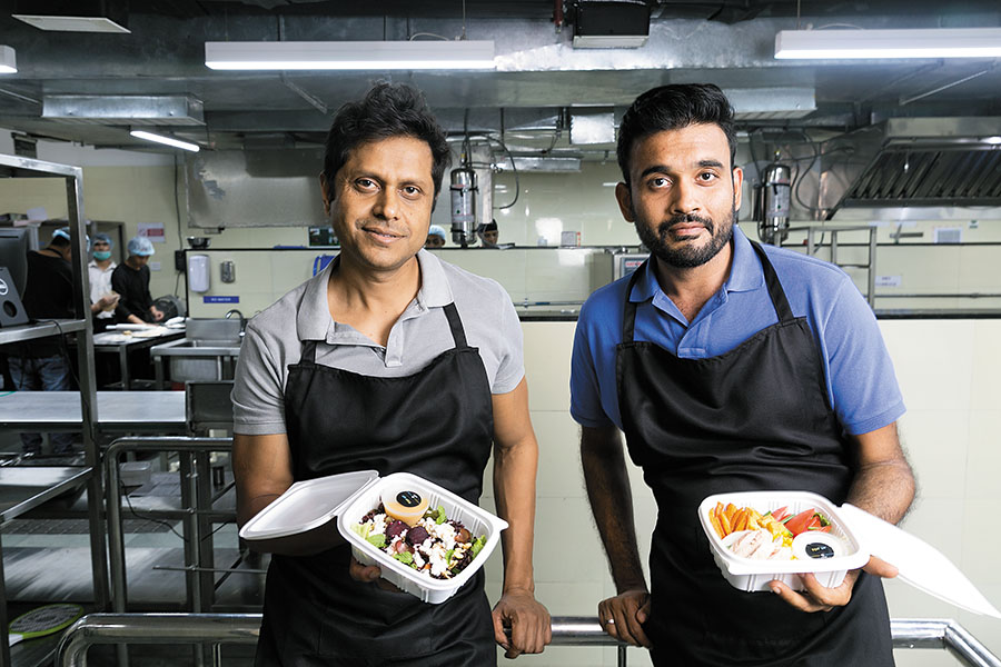 Mukesh Bansal (left) and Ankit Nagori, Co-Founders, Cure Fit