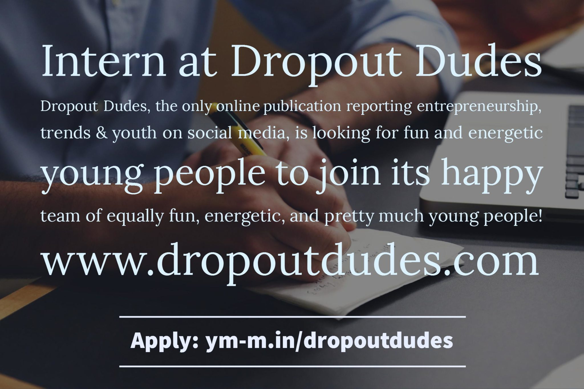 Intern at Dropout Dudes 4 – Dropout Dudes