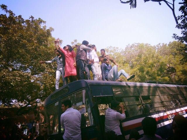 Priyanka Chhawri DUSU ABVP protest against Umar Khalid