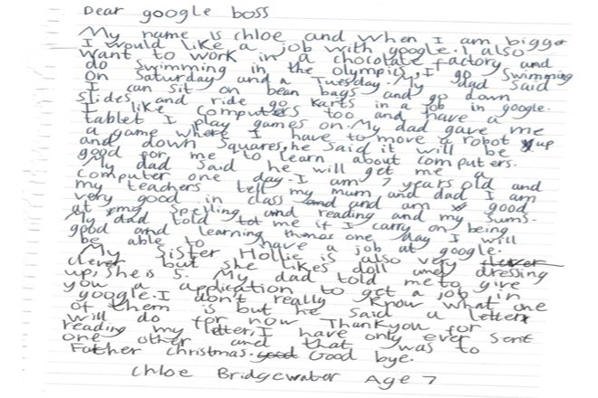 Here's CEO Sundar Pichai Reply to 7-Yr-Old Who Wants Job At Google  4 – Chloe google letter