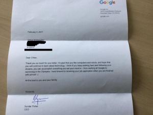 google Sundar pichai chloe letter  1 –