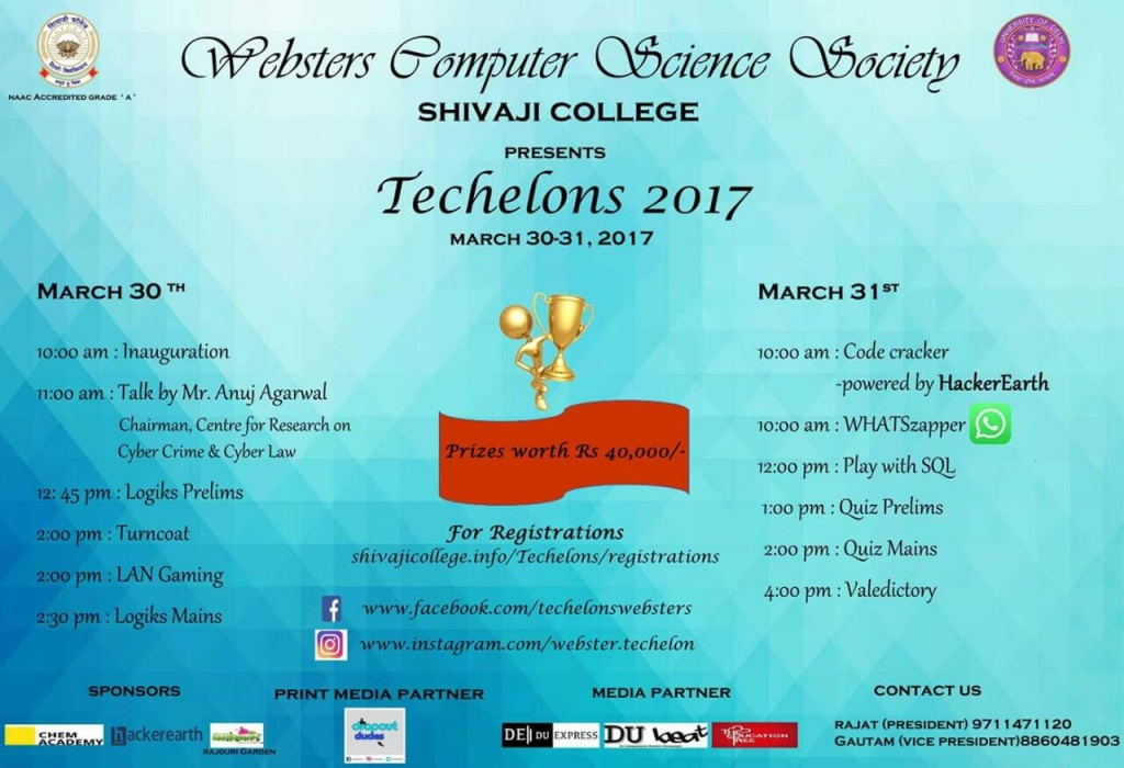 TECHELONS 2017 - Annual Technical Fest Shivaji College  3 – Shivaji College