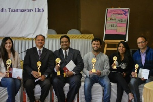 Award at Toastmasters International Speech Competition  1 –