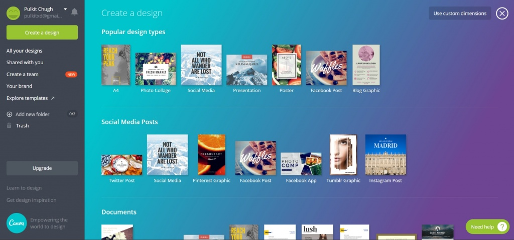 guide to use canva designing tool