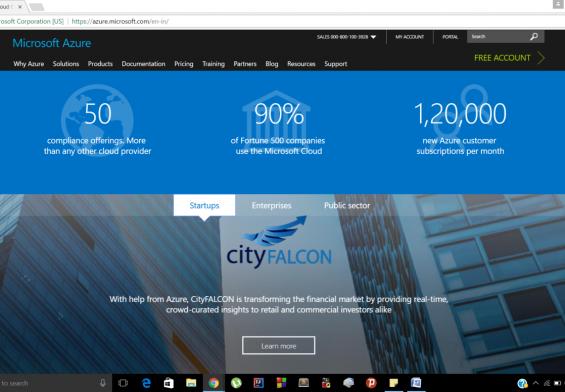 Microsoft Azure Tool Cloud Computing