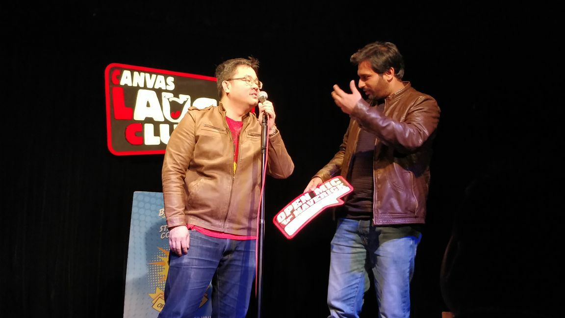 Hindi Pomedian Arpan Khosla performing at Canvas Laugh Club