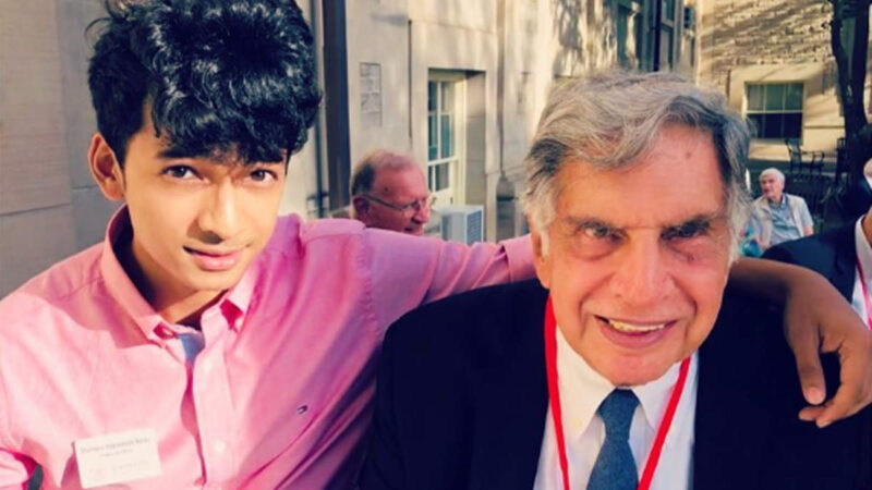 Ratan Tata with Shantanu Naidu